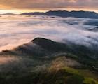 Biển mây ở vùng núi bao quanh khu vực TP. Bảo Lộc