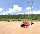 Chèo thuyền phao trên sông Đạ Đờn - Lâm Hà