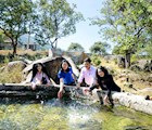 Giếng nước nóng ở Đạ Long - Đam Rông