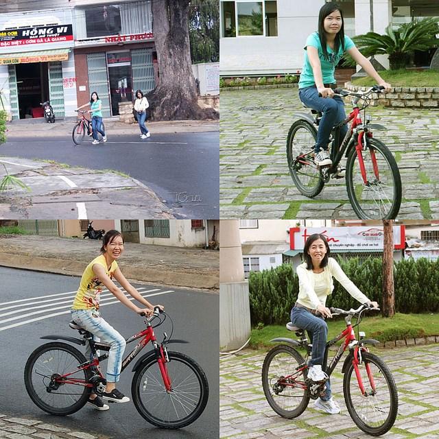 Cưỡi xe đạp