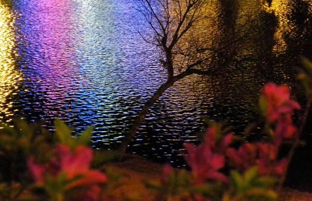 Hồ Xuân Hương huyền hoặc trong màn đêm. Chỉ ở những quán cà phê trên cao nhìn xuống mới chiêm ngưỡng